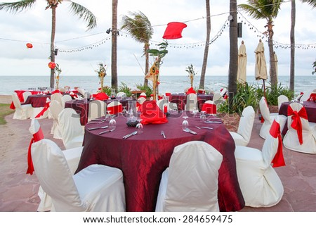 Chinese Wedding Banquet Table Setting By Stock Photo Edit Now