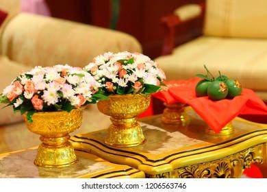Chinese wedding ceremony, Thai wedding, Orange thai wedding