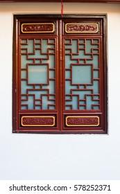 Chinese window.