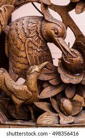 Chinese wood art. Vintage