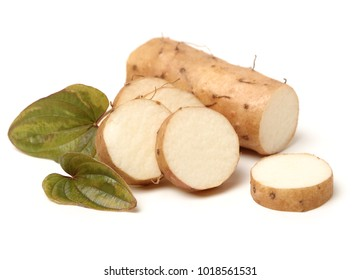 Chinese yam and leaf
