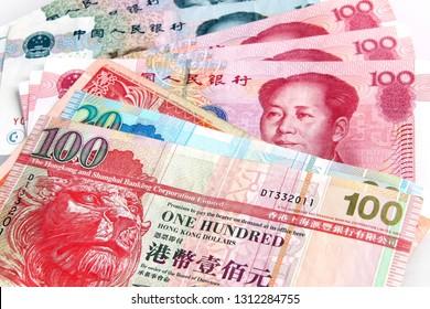 Chinese Yuan vs Hong Kong Dollars