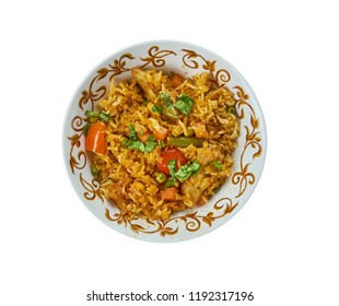 Ching's Schezwan Fried Rice Masala, Schezwan cuisine, Asia  Chinese cuisine , Traditional assorted dishes, Top view.