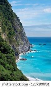 Chingshi Ocean cliffs are the highest coastal cliffs in Taiwan.