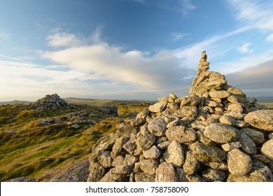 Chinkwell Tor in early morning light, Dartmoor, UK