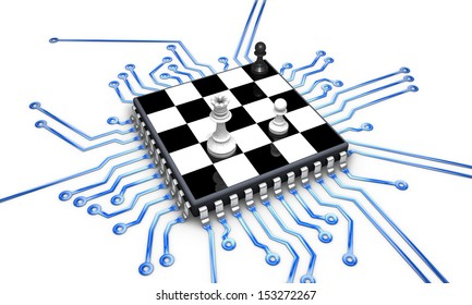 Chip checkered