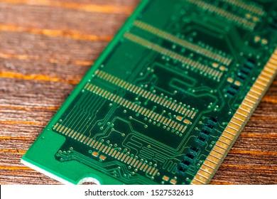 chip close up , microelectronics , RAM macro ,  computer circuit