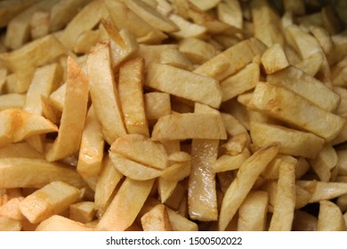 Chip shop chips in a fryer