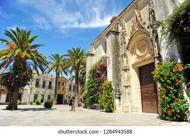 Chipiona, Spain - Aug 6, 2013: Church of Our Lady of the O in Chipiona, Cadiz province, Andalusia, Spain