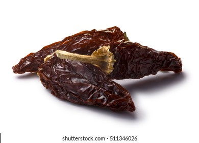 Chipotle morita, a whole smoked overripe Jalapeno peppers. Clipping paths, shadow separated