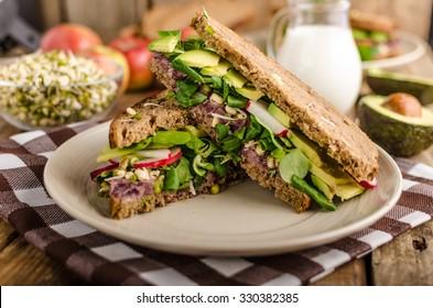 Chipotle-Avocado Summer Sandwich Recipe, bio healthy, eat clean