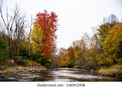 Chipp-A-Waters Park in Mount Pleasant, Michigan during the fall of 2019.