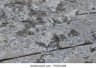 chipped concrete surface