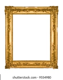 4fb54cdce91c Chipped vintage gold ornate frame