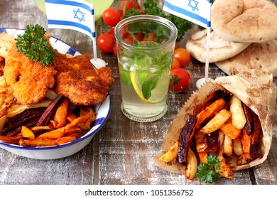 Chips with chicken schnitzel