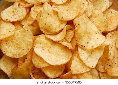 chips crisps on plate texture