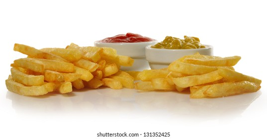 Chips and sauces.