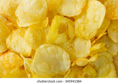 Chips top view selective focus close-up