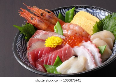 chirashi japanese food sashimi tuna donburi