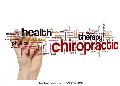 Chiropractic word cloud concept