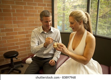 chiropractor with patient at a chiropractic clinic
