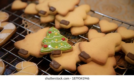 chirstmas tree cookies home made