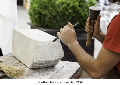 Chisel for sculpting stone, artistic work
