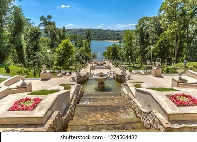 Chisinau, Moldava - Ago 4th 2018 - An amazing open air park in Chisinau in Moldavia in Europe