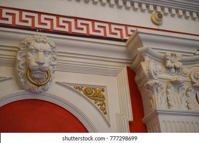 CHISINAU, MOLDOVA - 7 DECEMBER 2017.  Interior Exhibits of National Museum of History of Moldova