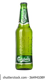 CHISINAU, MOLDOVA - December 18, 2015: globaly distributed pale lager beer produced by Carlsberg Group, a Danish brewing company founded in 1847 with headquarters located in Copenhagen, Denmark