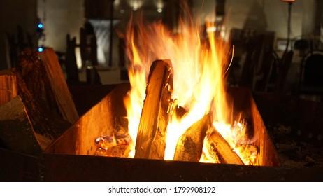 Chisinau / Moldova - December 2019: Cosy warm atmosphere in the Epoca de Piatra whine cellar during winter.