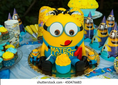 Prime Minion Cake Images Stock Photos Vectors Shutterstock Funny Birthday Cards Online Aeocydamsfinfo