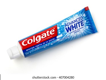 CHISINAU, MOLDOVA -March 13, 2016;: Colgate tooth paste on white.Colgate is a brand of toothpaste produced by Colgate-Palmolive