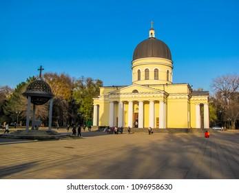 CHISINAU, MOLDOVA - NOVEMBER 21, 2009: View of the Nativity Cathedral.