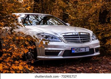 Chisinau, Moldova; October 11, 2017. Mercedes-Benz club festival in Moldova. Mercedes-Benz S Class W221. Editorial photo.