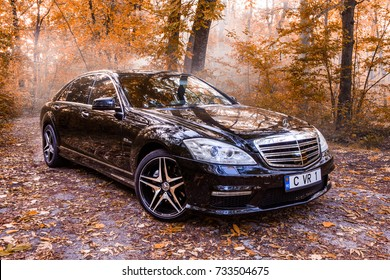 Chisinau, Moldova; October 11, 2017. Mercedes-Benz club festival in Moldova. Mercedes-Benz S Class W221. Editorial photo