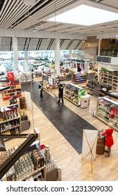 Chisinau, Moldova - September 27, 2016: duty free shops, .in a international airport in Chisinau, Moldova