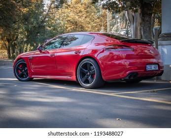 CHISINAU, MOLDOVA-OCTOBER 2, 2018: Porsche Panamera GTS at the City streets
