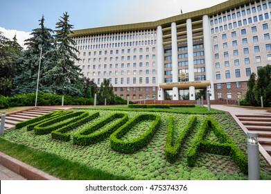 Chisinau, Republic of Moldova, Eastern Europe, 4th August 2016: view to the Parliament Building in Chisinau, Republic of Moldova