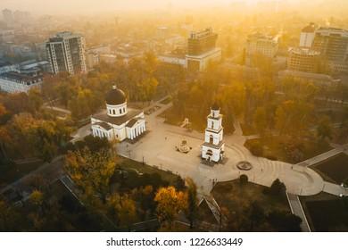 Chisinau Republic of Moldova sunrise in Cathedral Park