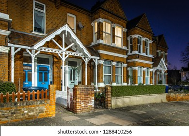 Chiswick suburb in the night, London