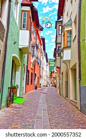 CHIUSA (BZ) ITALY, JUNE 23 historic center of the South Tyrolean village declared in 2002 one of the most beautiful villages in Italy June 23 2021 Chiusa(BZ) Italy