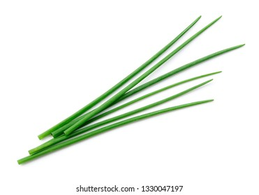 Chives isolated. Green onion.