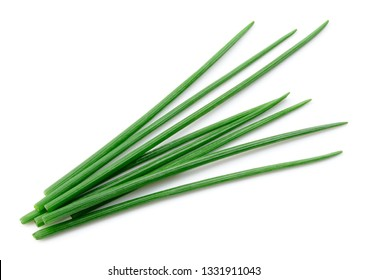Chives isolated. Green chives. Onion.