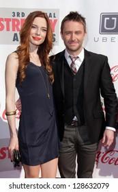 Chloe Dykstra, Chris Hardwick at the 3rd Annual Streamy Awards, Hollywood Palladium, Hollywood, CA 02-17-13