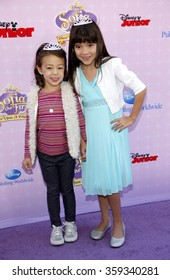 """Chloe Noelle and Aubrey Anderson-Emmons at the Los Angeles premiere of """"Sofia the First: Once Upon a Princess"""" held at the Disney Studios in Los Angeles, United States on November 10, 2012."""