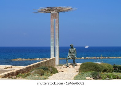 Chlorakas, Paphos, Cyprus, May 16th, 2014: Monument of memory and honour of the EOKA struggle 1955-1959. Translation: General George Grivas-Dhigenis, military leader of the liberation struggle of EOKA