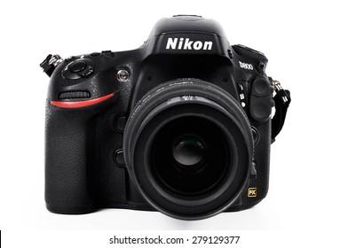 CHLUMCANY, PLZEN, MAY 5, 2015: Nikon D800 with Sigma lens