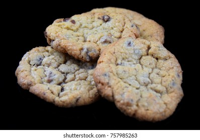 choco Cookies on a black background
