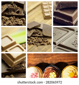 chocolate against chocolate